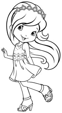 Strawberry Shortcake And Friends Printable Coloring Pages ...