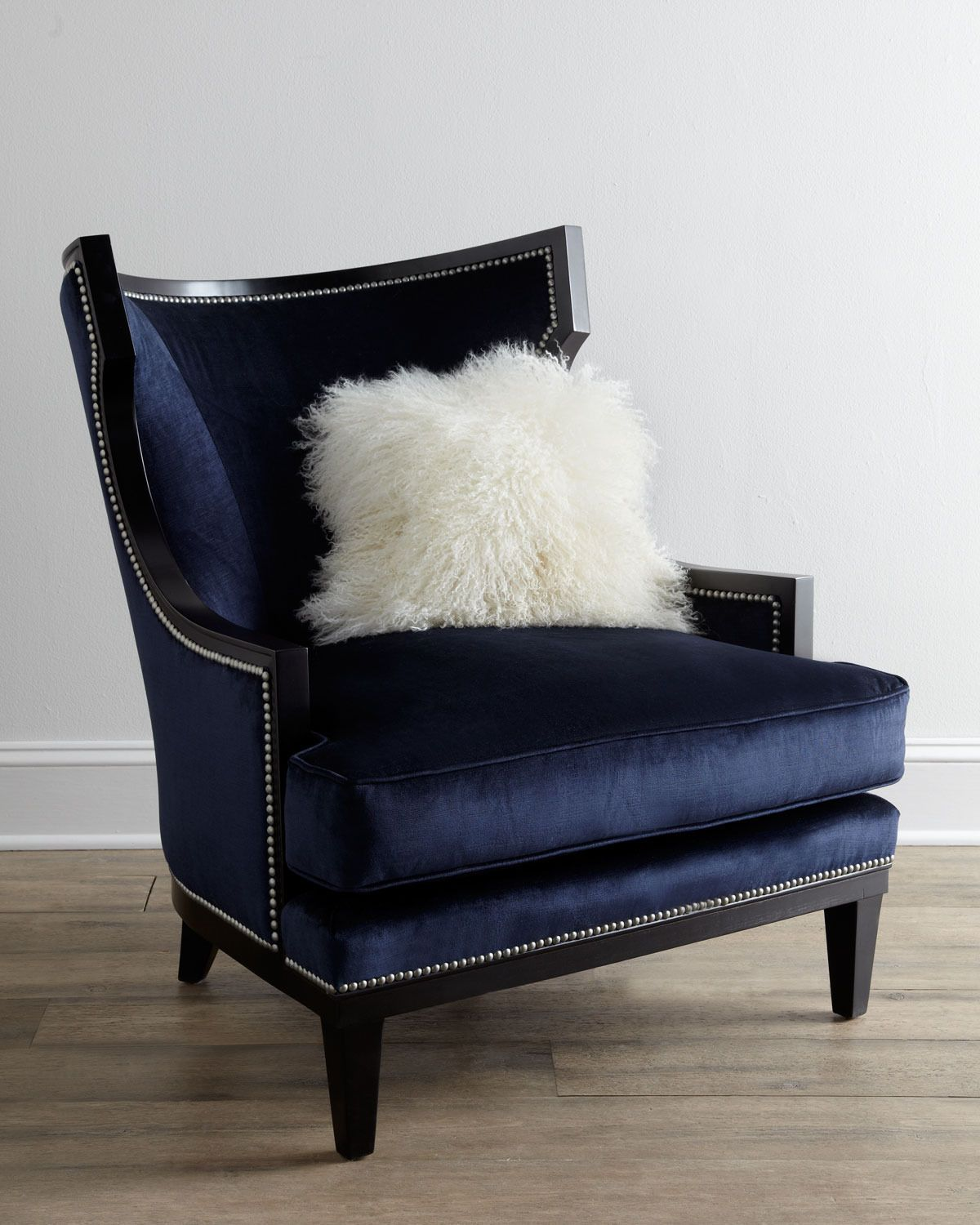 Blue Velvet Chair Elmira Armchair Guest Room Ideas Pinterest Armchairs