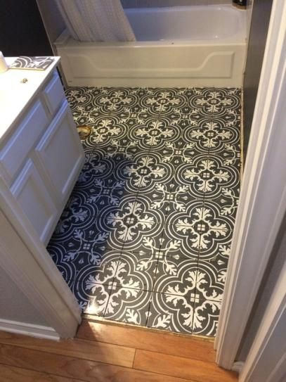 Merola Powder Room Tile