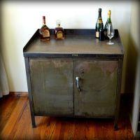 Reserved- Industrial Bar Cart Cabinet Vintage Metal Army ...