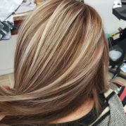 blonde with brown