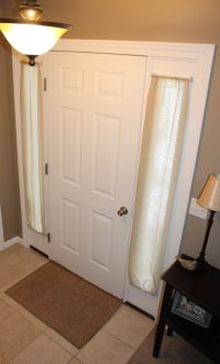 Front Door Curtains on Pinterest | Sidelight Curtains ...