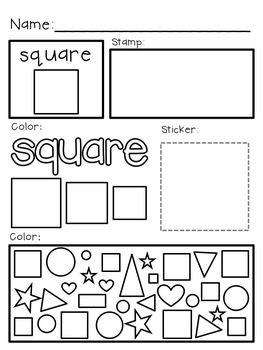 Super Simple Shapes: Mini-Task Worksheets, 2D Shapes {PreK