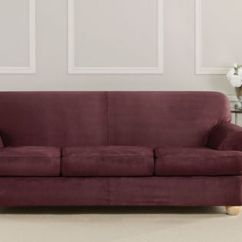Sure Fit Stretch Pique 3 Piece T Cushion Sofa Slipcover Seat Covers For Sofas Couch Gallery Pinterest Slipcovers Ultimate Heavyweight Suede Individual Clearance
