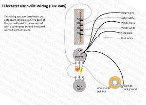 Telecaster Nashville Wiring Diagram   Telecasters