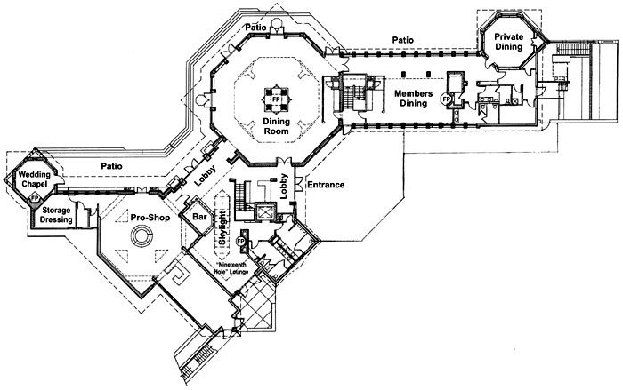 Nakoma Clubhouse Floor Plan 2001. The architects at