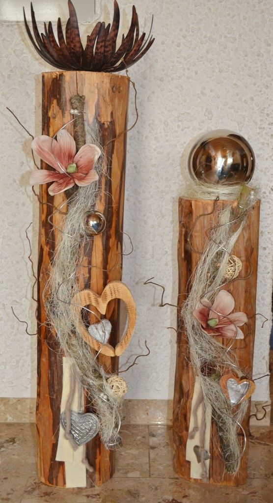 Dekorierte Balken gro  Holzfchse  Handarbeiten