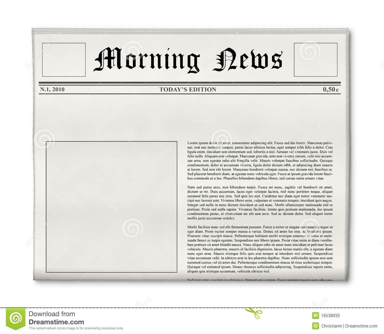 Daily Prophet Newspaper Template