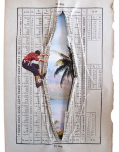Brilliant book collages the parallele exhibition by erwan soyer features alluring artwork clever also  ctahiti   draw pinterest tahiti collage and rh
