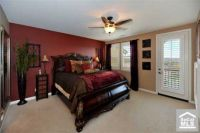 Red Accent Wall Bedroom | Red Wall Master Bedroom ...