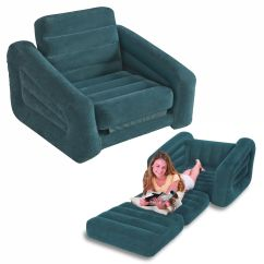 Intex Inflatable Sofa Kmart Friheten Bed Review One Person Pull Out Chair