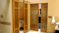Luxury Bathroom Bamboo Barn Doors with Thatch Resin by ...