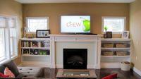 built in shelving for living room