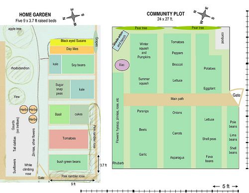 Small Garden Plot Designs Microsoft PowerPoint Vegetable