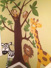 Jungle wall mural hand painted =] | Wall Murals ...