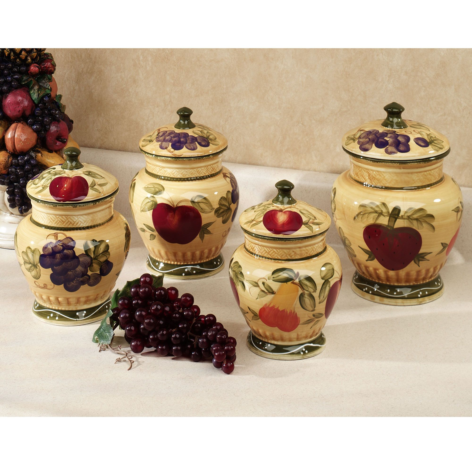 tuscan kitchen canisters design photos for small kitchens european fruit canister set the o 39jays