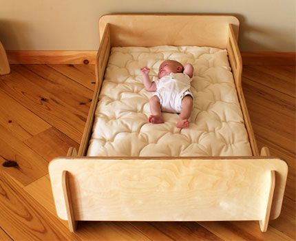 Montessori Style Floor Bed This Toddler Is Sized To Fit A Standard Crib Mattress