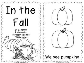 In the Fall Printable Sight Word Book Kindergarten-Great
