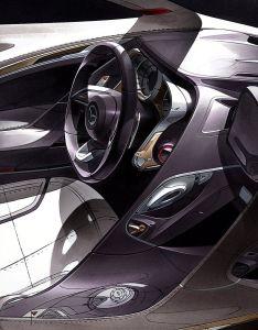 Automotive design car interior concept sketch also rh pinterest