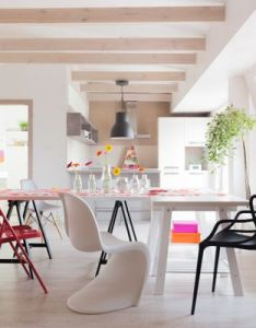 Two urban flats styled by polish designer sabina kra likowska both offer beautiful modern design ideas that are sophisticated but never fussy also sunny dining room interior pinterest colorful rh
