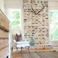 Fireplace brick option - maybe whitewash instead of ...