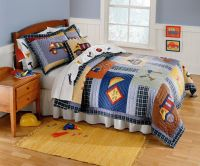 Construction Time Bedding for Boys Twin Size 2pc Quilt Set
