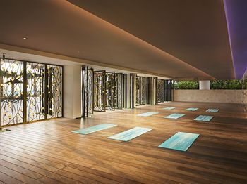Yoga studio decorating ideas with fancy design also room gym  pinterest america hotel spa and rh