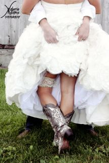 Country Wedding Boots for the Bride