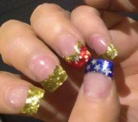 Wonder Woman Nails | Hand Art | Pinterest | Wonder woman ...