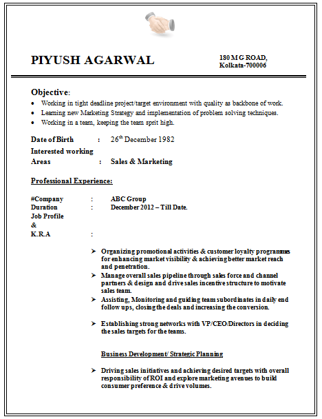 Format For Cv For Engineering Student Latest Resume