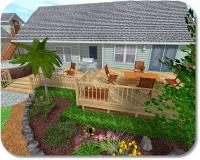 Landscaping around the deck | gardening lawn perinnials ...
