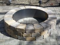Fire Pit Ring With Exterior
