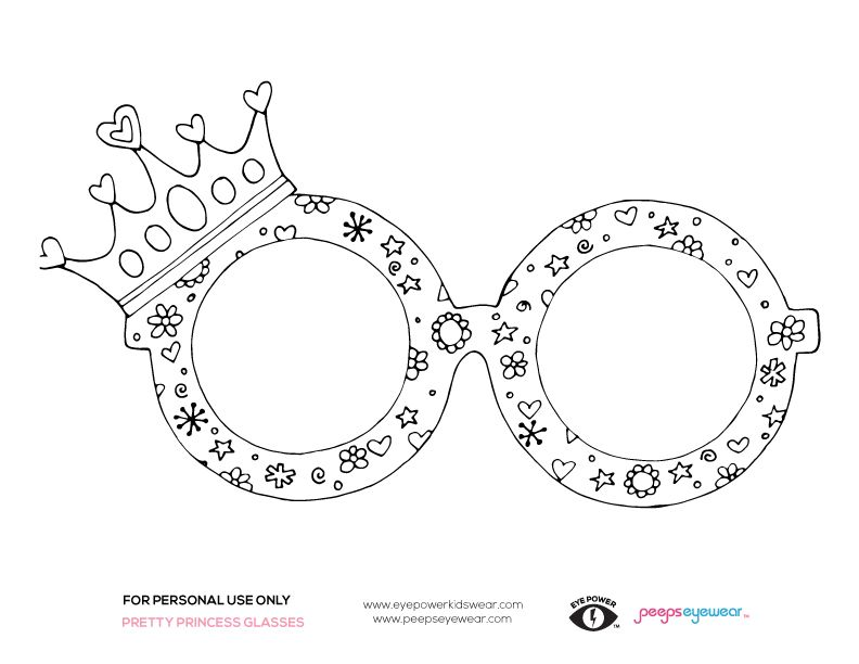 Free Princess Glasses Coloring Page By @peepseyewear and