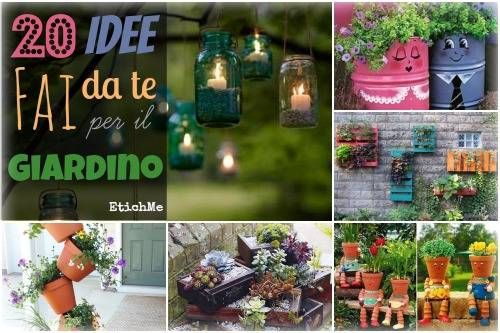 20 idee fai da te per il giardino FOTO  giardino  Pinterest  Gardens Herbs garden and