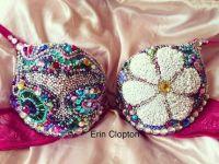 Tiesto EDC inspired Cupcake Bra- Jeweled, Sequined and ...