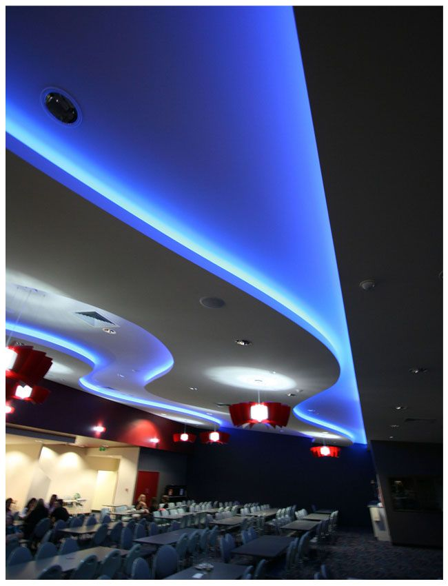 Led Strip Light Example Comference Room