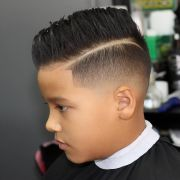 boys haircuts with design fade