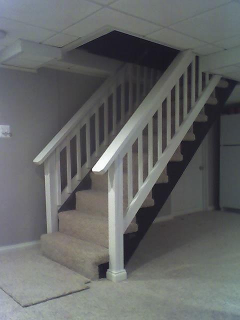 basement stair railing basement stairs deck style railing