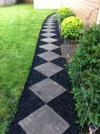 black mulch landscaping ideas   ... for an inexpensive ...