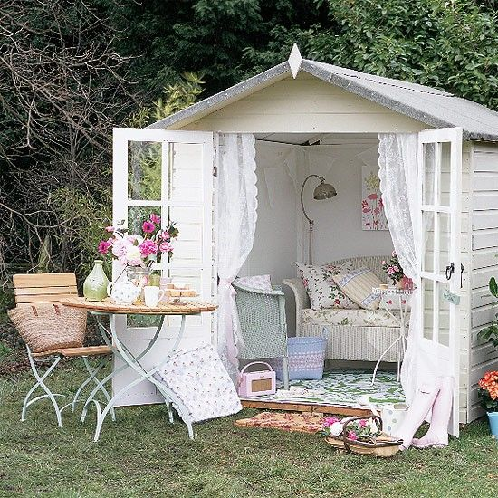 What Is Shabby Chic Decor? Purpose Gardens And Backyard Playhouse