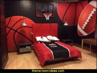 sports bedrooms all sports theme bedroom wall murals ...