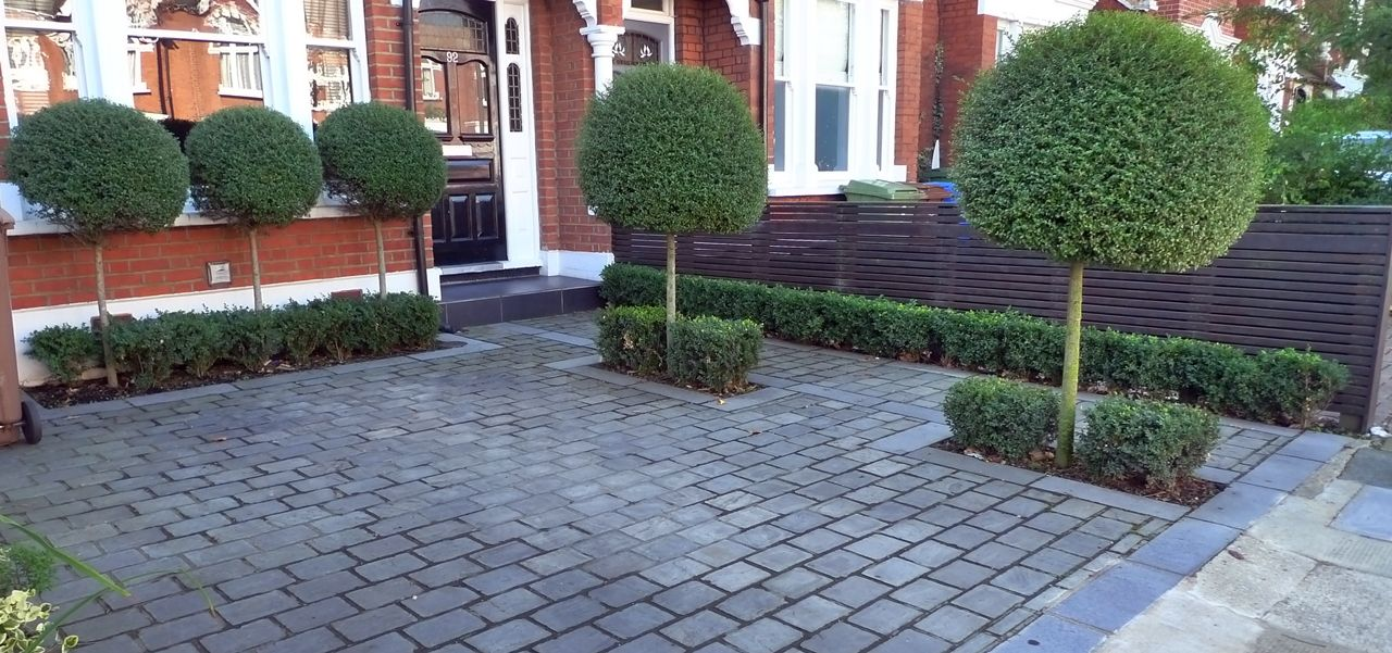 Front Garden Block Paving Driveway Dulwich London 1 280×601