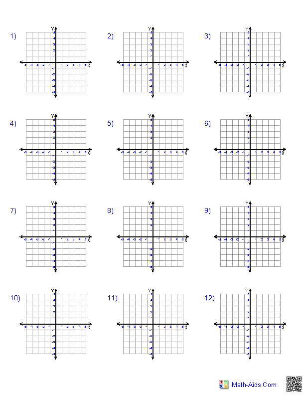Every combination of graph paper. Different sizes Quadrant