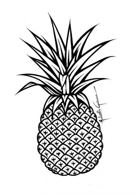 As 25 melhores ideias de Desenho abacaxi no Pinterest
