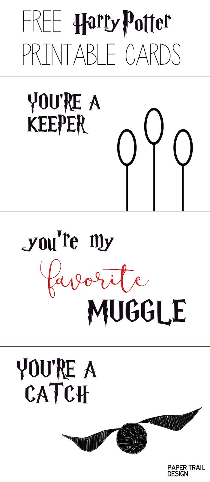 Free Printable Harry Potter Cards Free Printable Harry