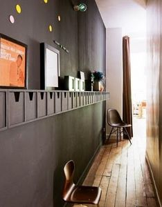 Creative small apartment hallway decoration of black wall design  also storage and even if it isn   all used makes for great rh pinterest