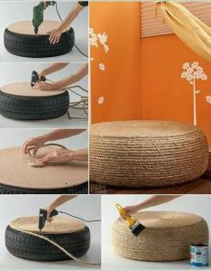 fantastic diy home decor ideas with rope what  cheap and effective way of creating something chic simple for the using tyre glue also good idea evv pinterest craft house rh