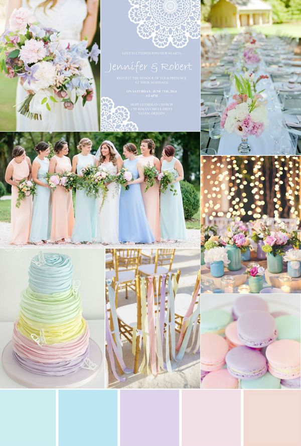 Seven Gorgeous Garden Wedding Color Palettes Wedding Color