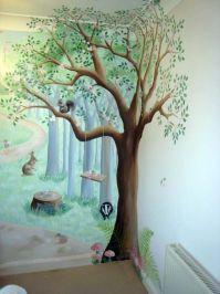 woodland nursery mural | Fairy fun and frolics ...