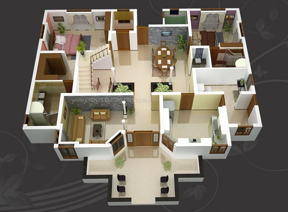 32 Simple Two Bedroom House Plan Multigenerational Home Designs